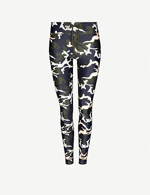THE UPSIDE Camouflage-print high-rise stretch leggings