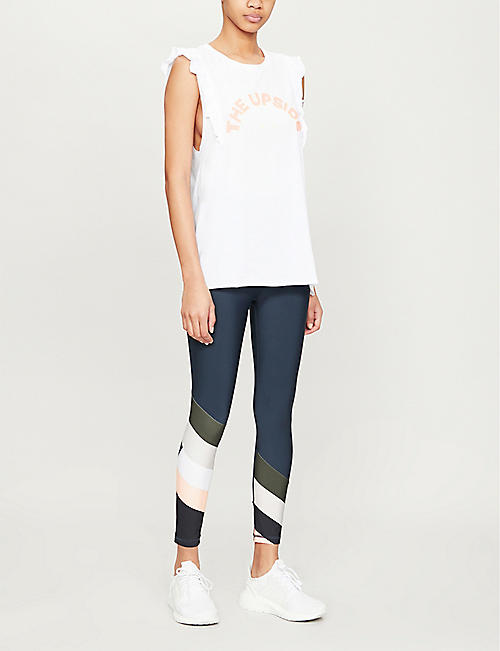 THE UPSIDE Frill logo-print cotton-jersey tank top