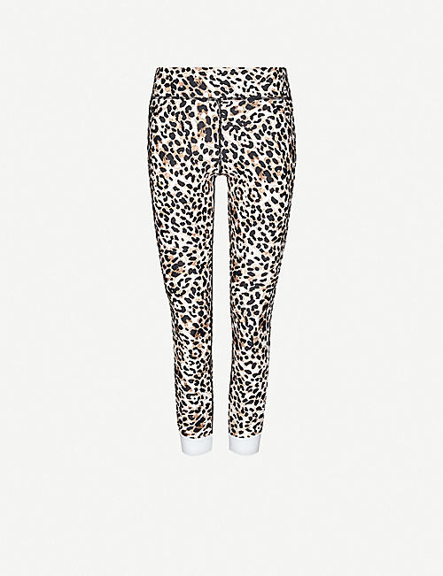 THE UPSIDE: Leopard-print high-rise stretch leggings