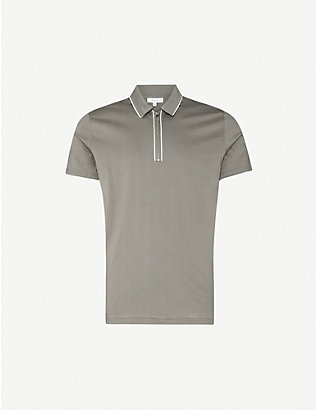 REISS: Nathan slim-fit cotton polo shirt