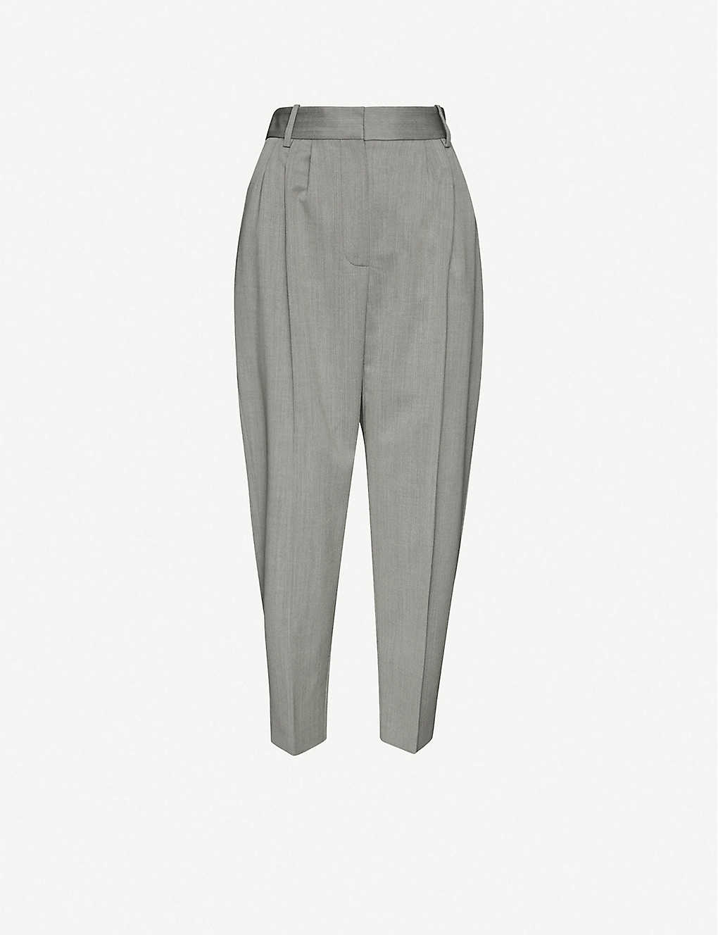 ALEXANDER MCQUEEN: Tapered high-rise wool trousers