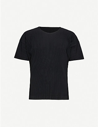 HOMME PLISSE ISSEY MIYAKE: Pleated woven short-sleeve T-shirt