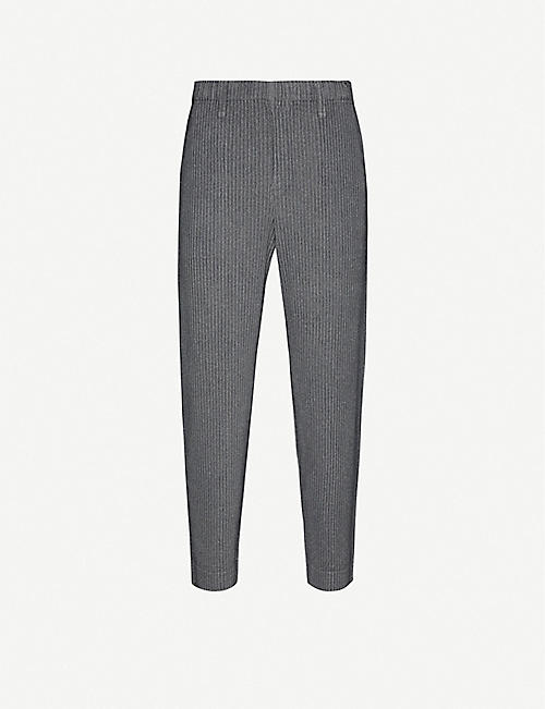 HOMME PLISSE ISSEY MIYAKE Heather tapered pleated trousers