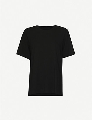 MM6 MAISON MARGIELA: Slogan-print cotton-jersey T-shirt