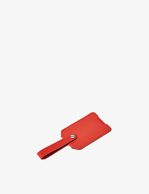 THE CONRAN SHOP: Luggage tag in recycled leather