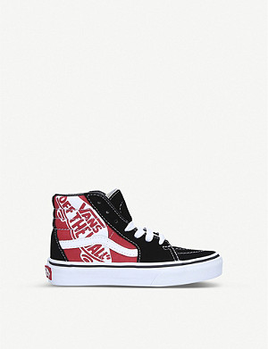VANS UY SK8-Hi canvas and suede trainers 5-9 years