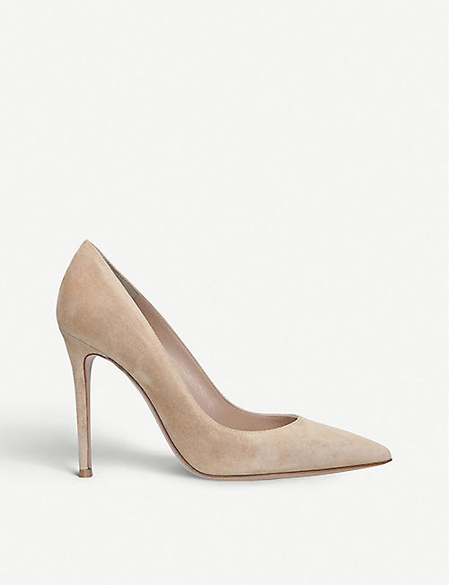 GIANVITO ROSSI: Gianvito stiletto suede courts