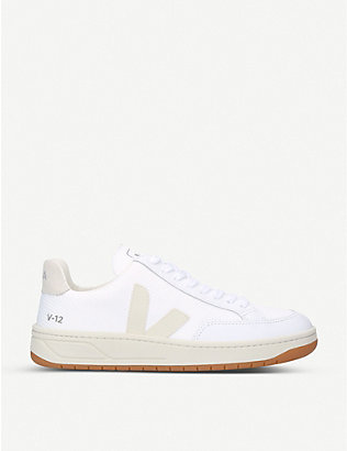 VEJA: V12 leather and mesh trainers