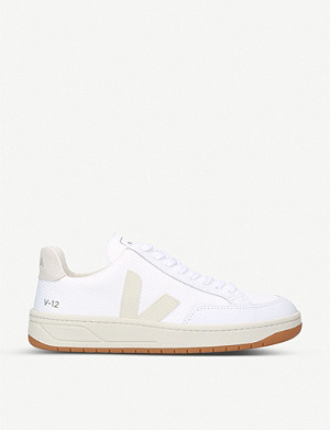 VEJA V12 leather and mesh trainers