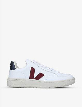 VEJA: V-12 leather low-top trainers