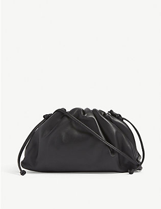 BOTTEGA VENETA: The Pouch mini leather clutch bag