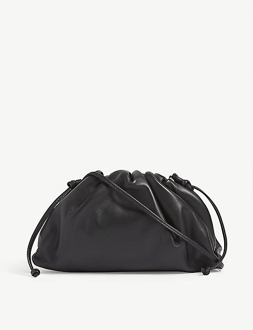 BOTTEGA VENETA: The Pouch mini leather clutch