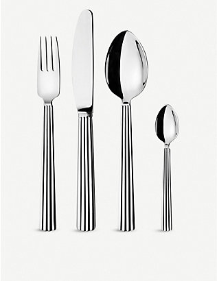 GEORG JENSEN: Bernadotte stainless steel 16pc cutlery set
