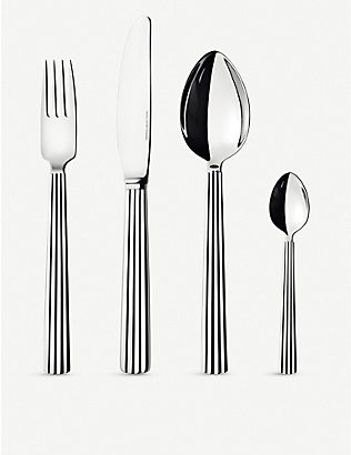 GEORG JENSEN: Bernadotte stainless steel 24pc cutlery set
