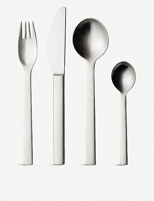 GEORG JENSEN: New York 16pcs stainless steel cutlery set