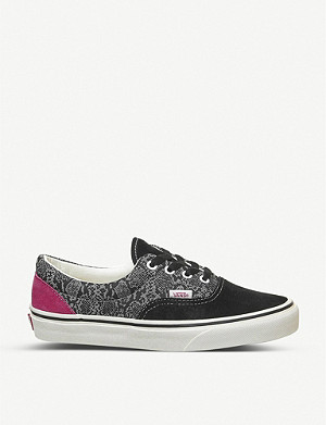 VANS Era leather and canvas trainers