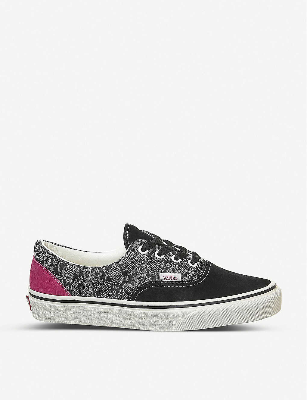 VANS: Era leather and canvas trainers