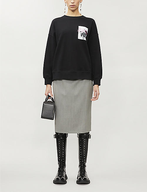 ALEXANDER MCQUEEN Branded cotton-jersey jumper