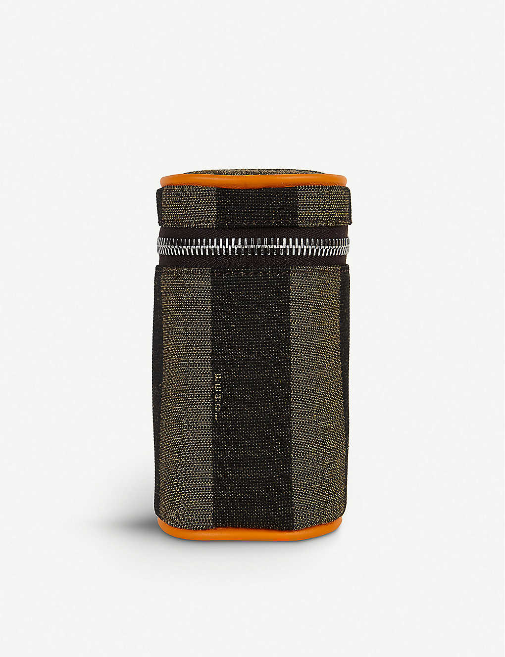 FENDI: Striped leather can pouch
