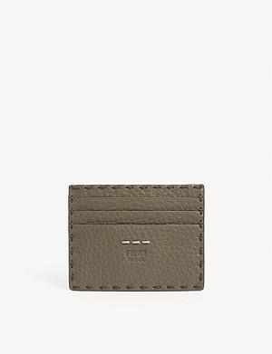 FENDI Grained leather card holder