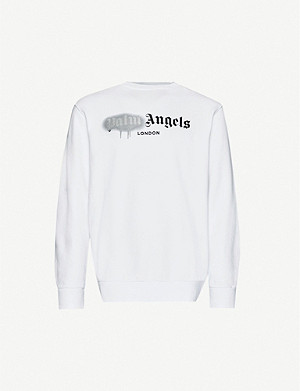PALM ANGELS Logo-print cotton-jersey sweatshirt