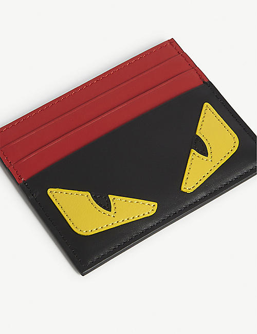 FENDI Eye motif leather card holder