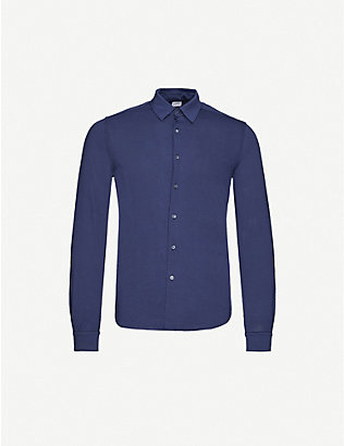 ASPESI: Cutaway-collar cotton-jersey shirt