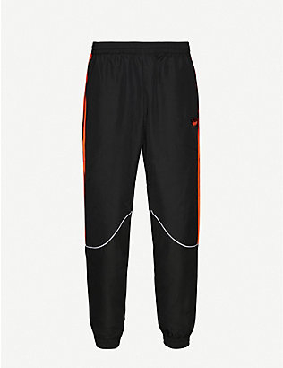 ADIDAS: Trefoil-embroidered shell jogging bottoms