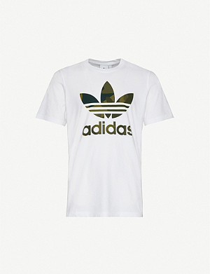 ADIDAS Camouflage trefoil logo cotton-jersey T-shirt
