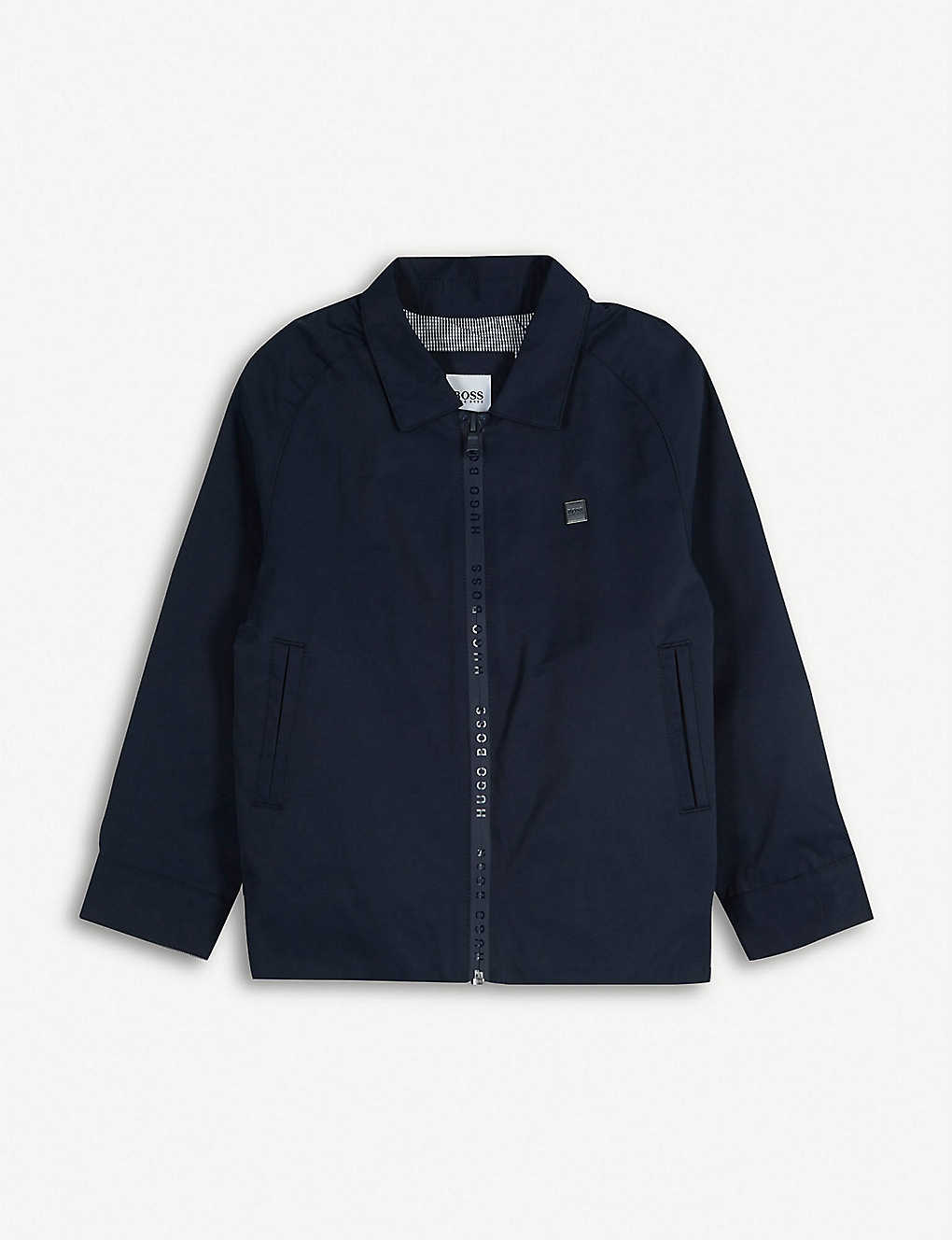 BOSS: Logo tape cotton-blend twill jacket 4-12 years