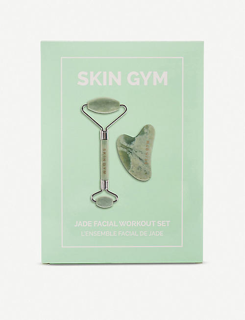 SKIN GYM: Jade eye roller and face tool set