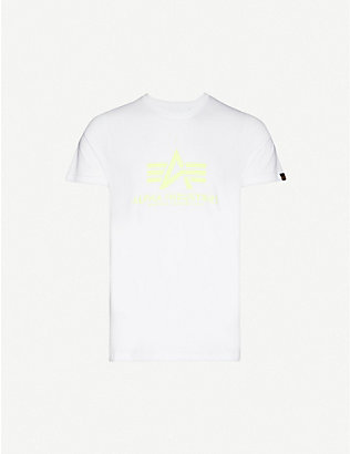 ALPHA INDUSTRIES: Logo-print cotton-jersey T-shirt