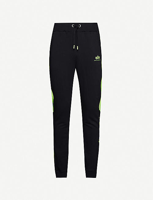 ALPHA INDUSTRIES Alpha Stripe stretch-jersey jogging bottoms