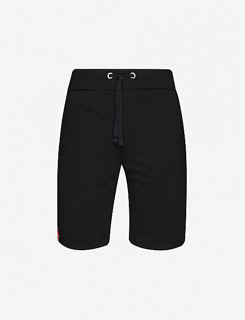 ALPHA INDUSTRIES Logo-tape cotton-blend shorts