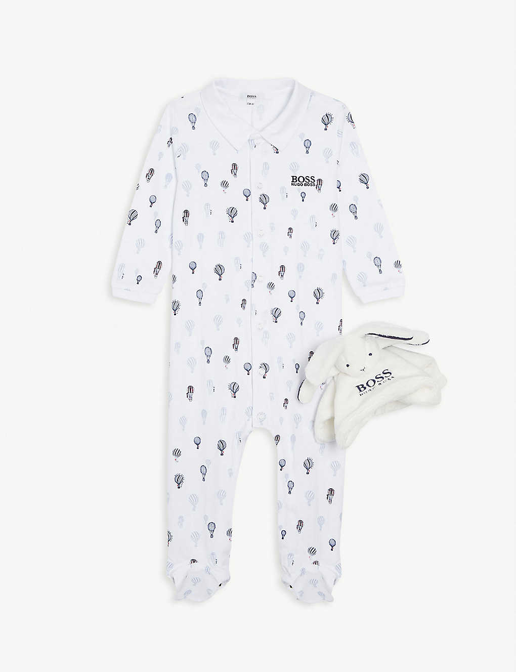 BOSS: Sleepsuit and bunny toy set 1-18 months