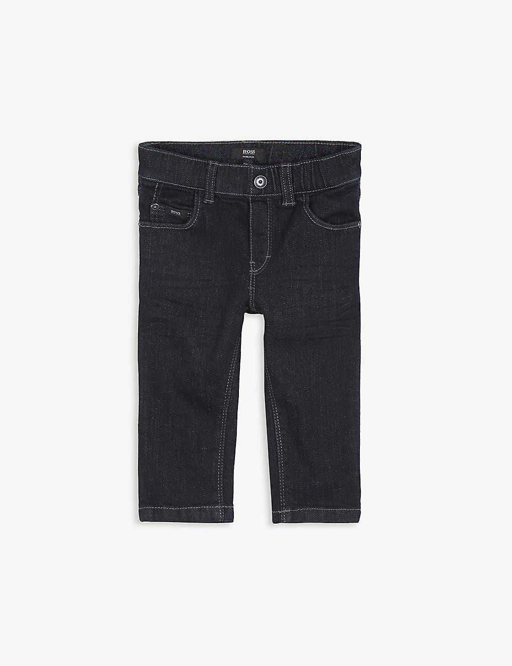 BOSS: Dark wash stretch-cotton jeans 6-12 months