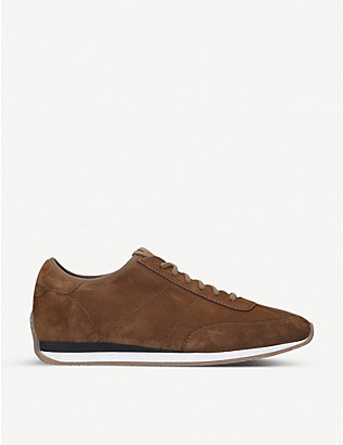 SANTONI: Lacourt suede running trainers
