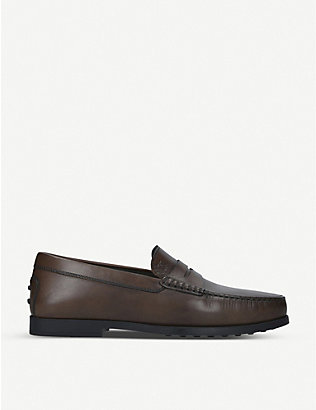 TODS: Leather penny loafers