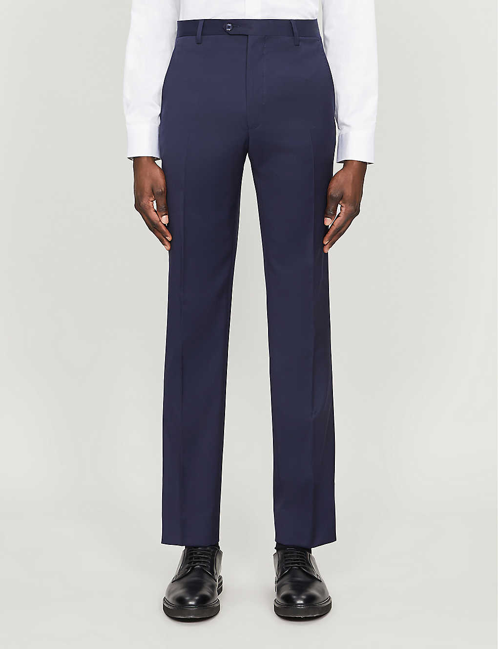 TED BAKER: Debonair tapered modern-fit wool trousers