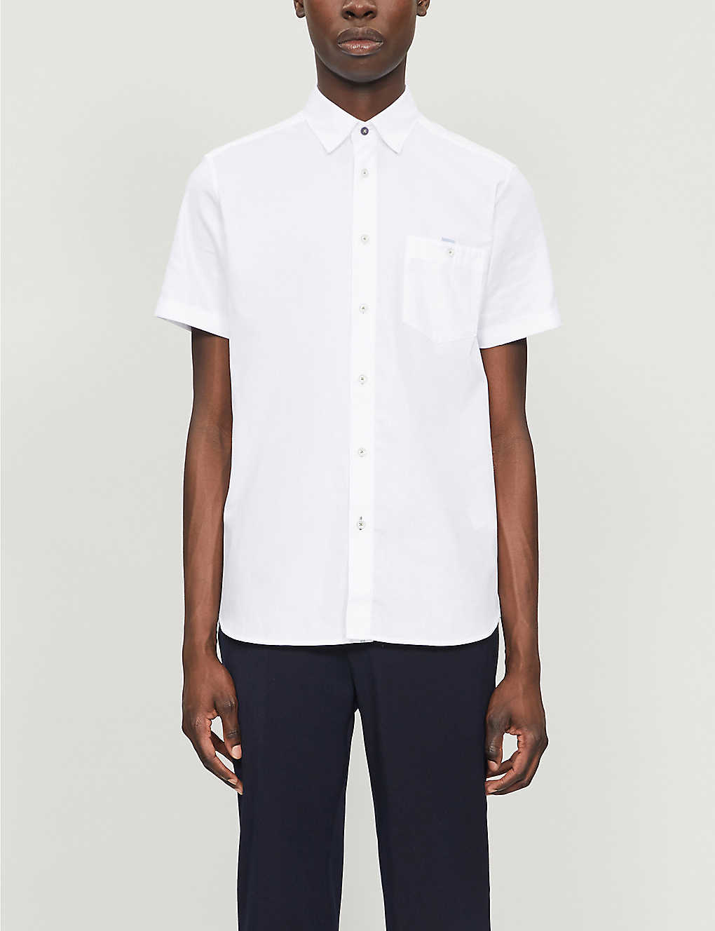 TED BAKER: Oxford short-sleeved cotton shirt