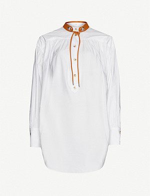 SPORTMAX Garbo contrast-collar cotton shirt