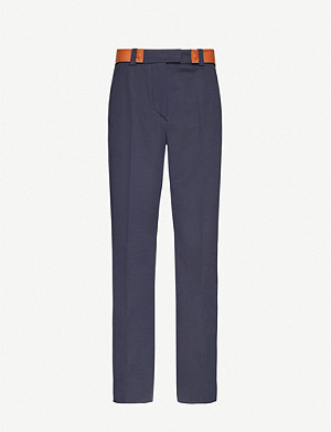 SPORTMAX Dramma straight-leg mid-rise stretch-cotton trousers