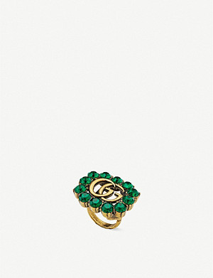 GUCCI GG Marmont crystal ring