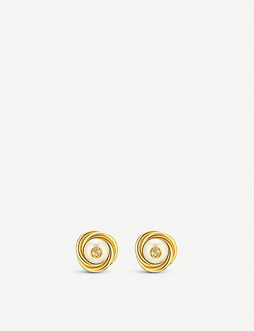 GUCCI Interlocking G faux-pearl earrings