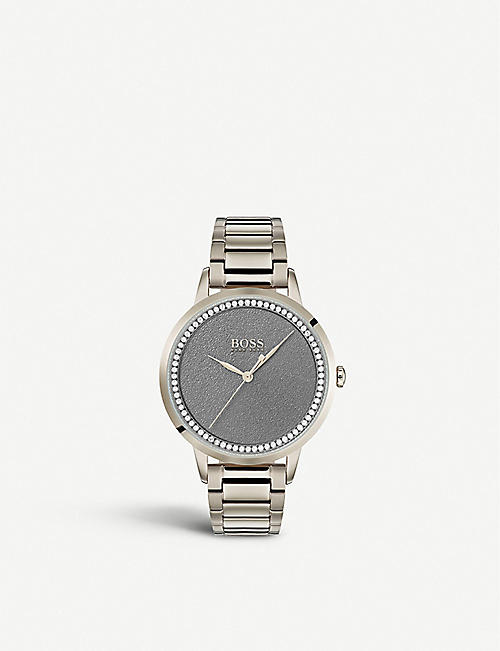 BOSS: 1502461 Twilight ionic-plated crystal-embellished quartz watch