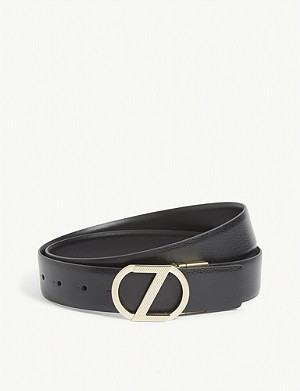 ZEGNA Z buckle leather belt