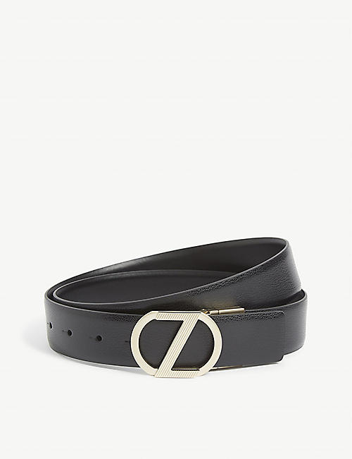 ZEGNA: Z buckle leather belt