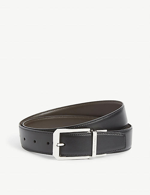 ZEGNA: Leather buckle belt