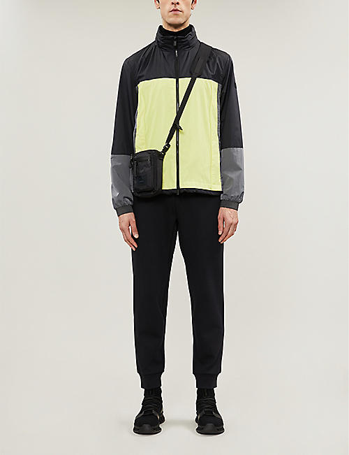 Z ZEGNA Funnel-neck colour-blocked shell jacket