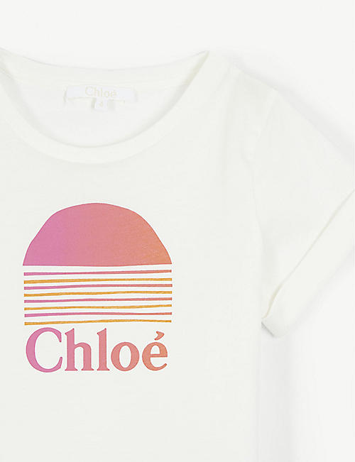 CHLOE Fringed sunset T-shirt 4-12 years